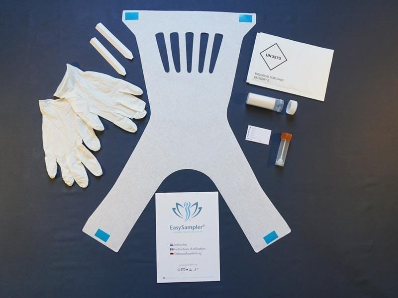 Avec le Kit EasySampler vous obtenez tout ce qu'il faut pour recueillir un échantillon de selles
