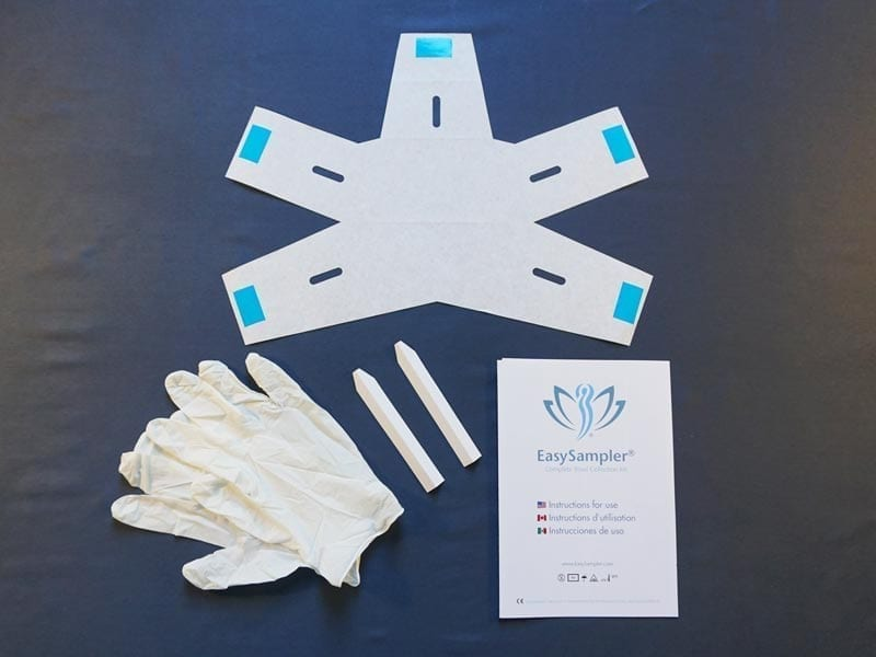 Easy Sampler mini kit contains Easy paper spoons ,Disposable gloves, instruction 200 pcs pr carton