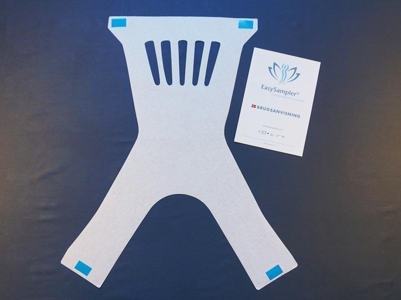 kit til opsamling af afføring -velegnet til lægeklinikker. Indeholder instruktion med piktogram